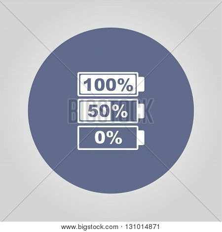 Battery icon. Flat design style eps 10