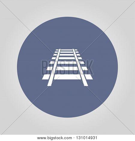 Railroad icon. Modern design flat style EPS