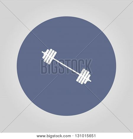 barbell icon. Vector concept illustration for design.