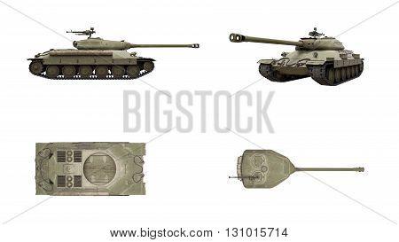 Tank 3D Is6 3D Render