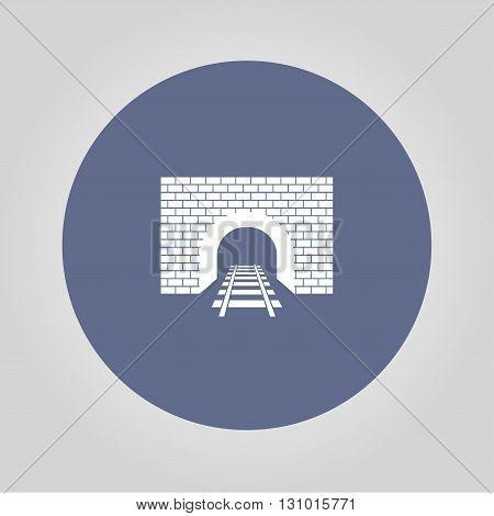 Tunnel icon. Vector concept illustration for design.