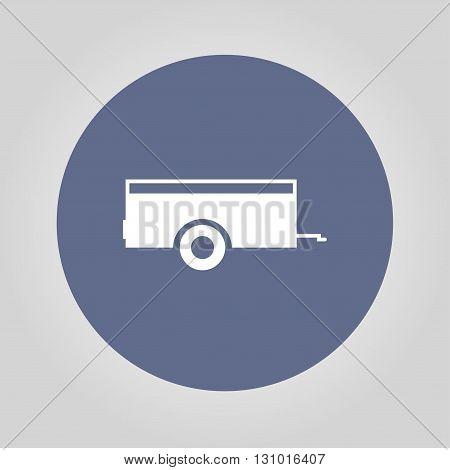Car trailer Icon. Vector concept illustration for design.