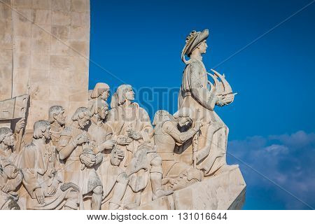 Monument to the Discoveries of New world in Lisboa Portugal