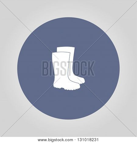 Boot vector icon. Concept illustration for design.