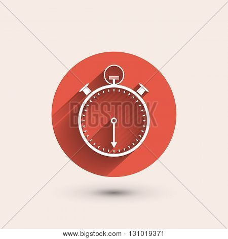 Stopwatch minimal icon vector illustration flat style