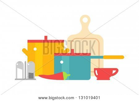 Cookware icon set vector illustration.