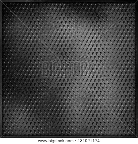 Perforated metallic background with scratches