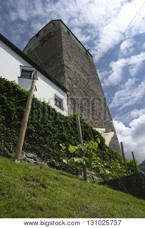 tower of the castle of aschach in tyrol