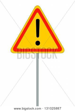 Road signs. Red Badge guardrails. Vector Illustration EPS10