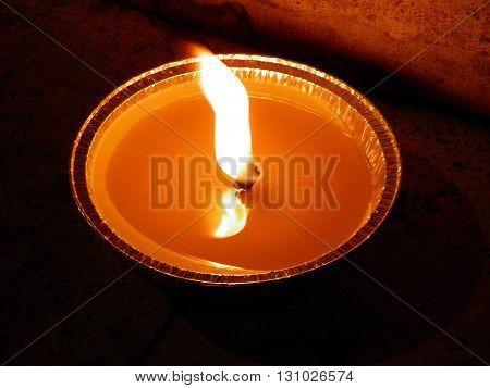 Candle Lit Close Up
