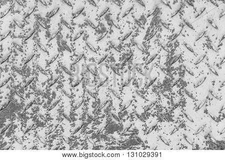 Metal plate abstract background in silver color.