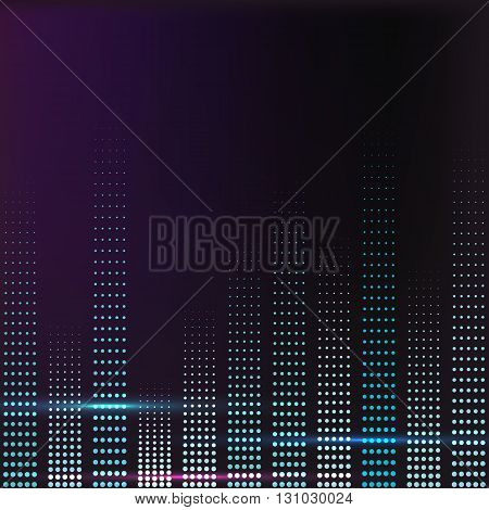 spectrum colorful music volume with lighting vector illustration