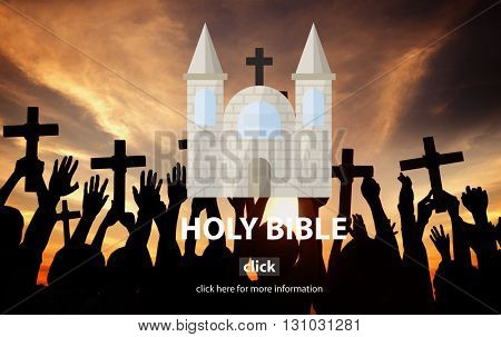 Holy Bible Pray Spiritual Wisdom Christ Concept
