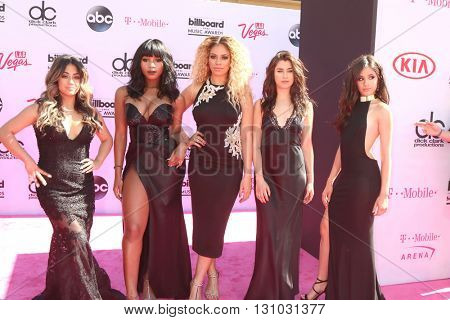 LAS VEGAS - MAY 22:  Fifth Harmony at the Billboard Music Awards 2016 at the T-Mobile Arena on May 22, 2016 in Las Vegas, NV