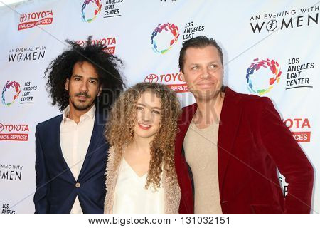 LOS ANGELES - MAY 21:  Tamir Barzilay, Tal Wilkenfeld, Owen Barry at the An Evening With Women 2016 at Hollywood Palladium on May 21, 2016 in Los Angeles, CA