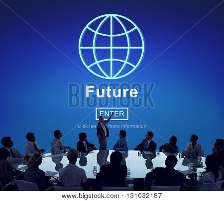 Future Online Technology Global Concept