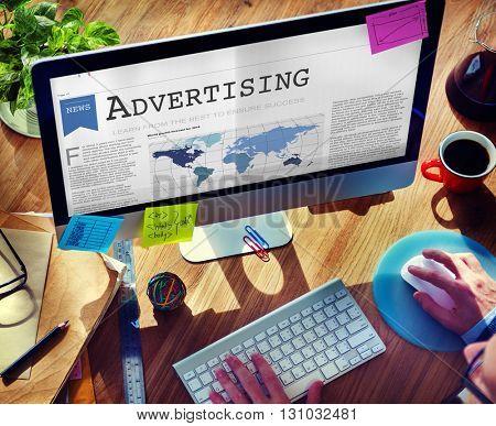 Advertising Branding Commerce Promotion Concept