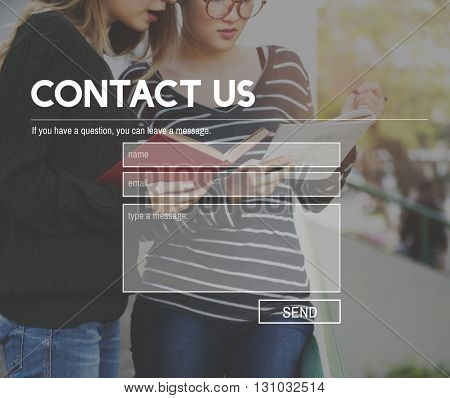 Contact Us Communication Connection Feedback Concept