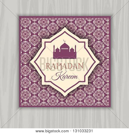 Decorative invitation design for Ramadan