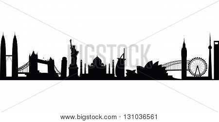 a black and white world landmark group