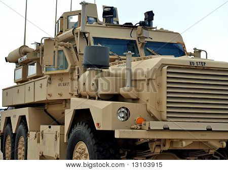 A U.S Navy MRAP Vehicle