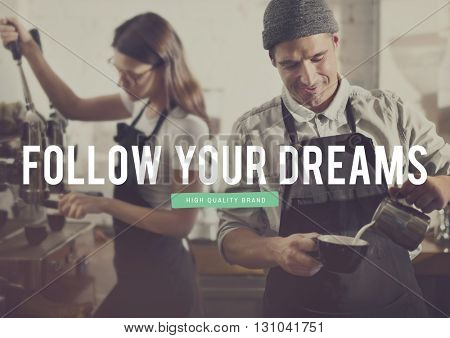 Business Plan Working Dream Big Concept
