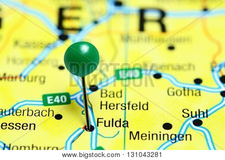 Fulda pinned on a map of Germany