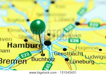 Buchholz pinned on a map of Germany