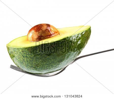 Fresh avocado isolated on white