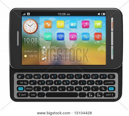 Seite-Schieber-Touchscreen-smartphone