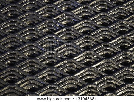 Abstract lines and industrial metal mesh pattern background texture