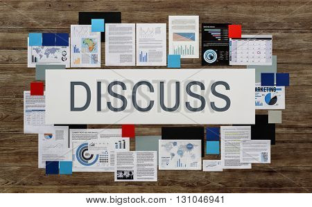 Discuss Discussion Communication Conference Concept