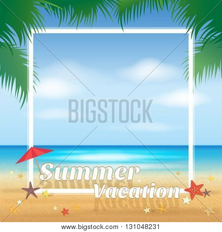 Summer beach party, summer vacation background and banner