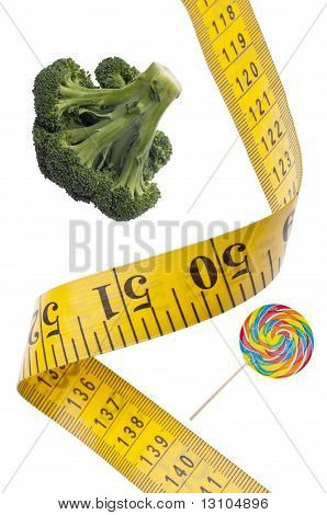 Measuring Tape Diet Health Concept