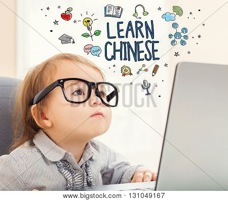 Learn Chinese Concept With Toddler Girl