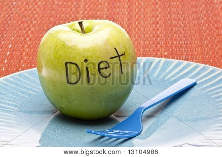 Apple do conceito de dieta