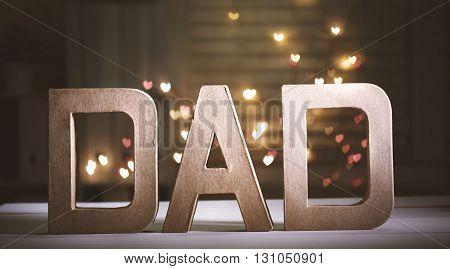 Dad Letter Blocks