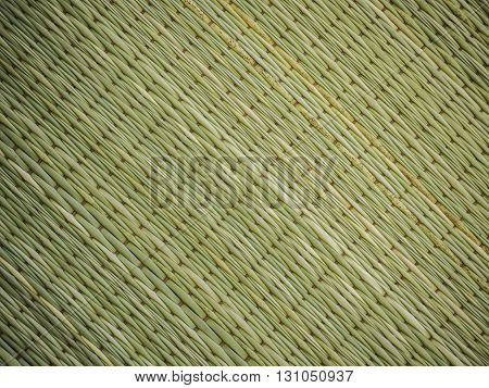 Abstract background of reed mat pattern Thai traditional handicraft.