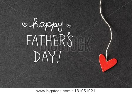 Happy Fathers Day Message With Paper Hearts