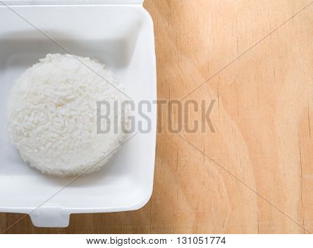 Jasmine Rice In Foam Box