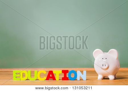 Education Theme Piggy Bank