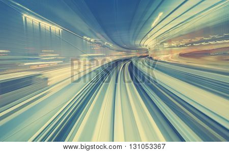 High Speed Technology Concept Via A Tokyo Monorail
