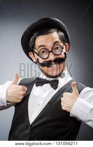 Funny man in vintage concept