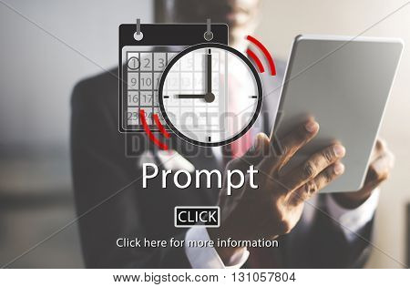 Prompt Appointment Organizer Plan Reminder Concept