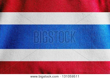 the Thailand flag cavas fabric texture background
