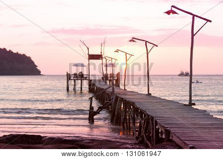Jetty to Eternity At the End of the Day