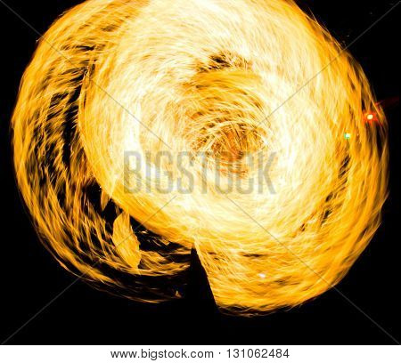 Flaming Trails Burning Man