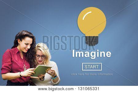 Imagine Think Innovate Visualize Ideas Concept