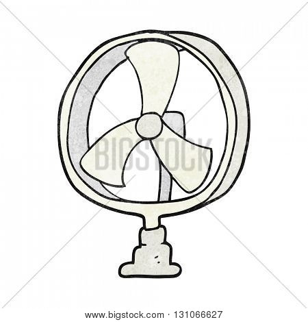 freehand textured cartoon desk fan