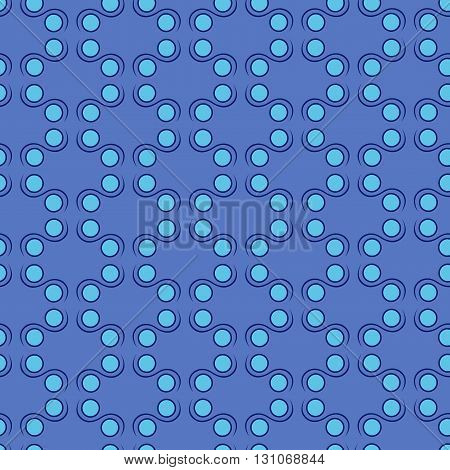 Seamless Pattern In Blue Hues